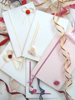 A romantic collection of wedding invitations created from the finest quality